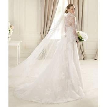 Robe de mariée en dentelle Pronovias. Source : robe-de-mariée