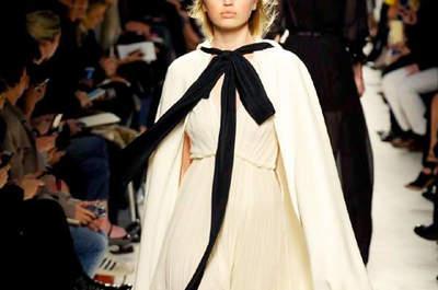 Inspiración para novias: descubre los vestidos blancos más chic de la Fashion Week de Milán