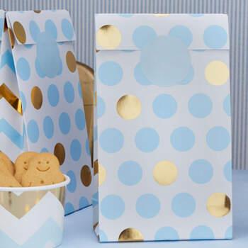 Bolsas Círculos Azules 5 Unidades- Compra en The Wedding Shop
