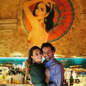 """Já Sofia Cerveira mostra onde os dois foram brindar ao amor. Foto IG @sofcerveira que Gonçalo também partilhou. """"A mais linda"""", diz ele."""