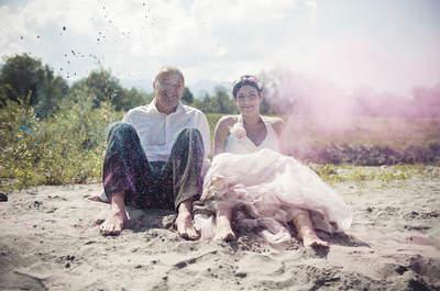 Trash the Dress – Nach der Schweizer Traumhochzeit ein privates Holi Festival!