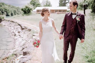Wenn Pastelltöne und DIY-Details begeistern – So schön war die Hochzeit von Fabia und Patrick