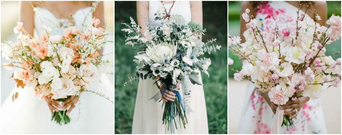 Buquê de noiva com flores silvestres: um toque boho chic deslumbrante!