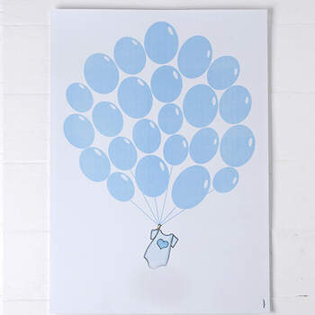 Libro de firmas Globos Azules- Compra en The Wedding Shop