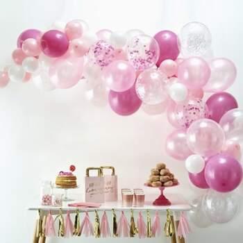 Arc De Ballons Rose 70 Pièces - Achetez sur The Wedding Shop !
