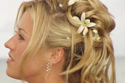 Peinados de novia con cabello largo