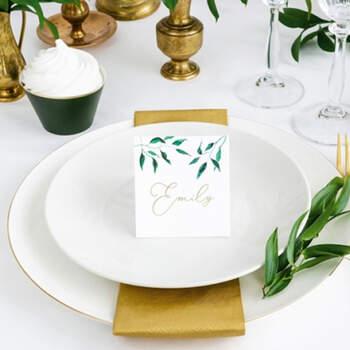 Marcasitio Tradicional Hogas Acuarela 25 unidades- Compra en The Wedding Shop