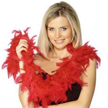 Boa De Plumas Rojo- Compra en The Wedding Shop