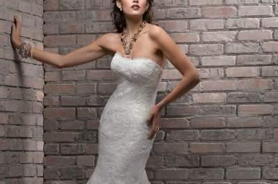 Vestidos de noiva em renda Maggie Sottero, coleção Divina 2013