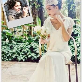 Mi vestido de novia sería un modelo bastante casual, de estilo boho-chic, porque mi sueño es celebrar una bonita boda en el campo. Un enlace lleno de detalles muy especiales ¡y mucho amor!  Vestido de novia de M.Gio Alta Costura. Credits: M.Gio Alta Costura