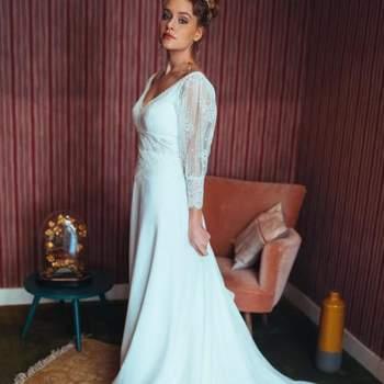 Robe de mariée bohème modèle Cloe - Crédit photo: Elsa Gary