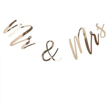 Guirnalda de boda de oro Sr. y Sra. - Compra en The Wedding Shop
