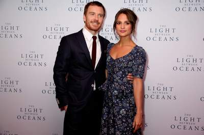 Alicia Vikanderand Michael Fassbenderattending the The Light Between Oceans UK Premiere, at Curzon Mayfair, London. See PA story SHOWBIZ Oceans. Estreno de The Light Between Oceans en Londres 11/cordon press