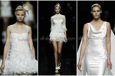 Alcuni modelli della Collezione 2013 di Manuel Mota per Pronovias. Foto www.all-about-fashion.com