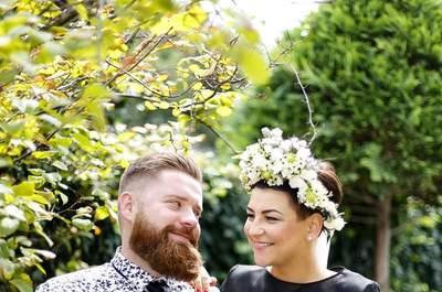 Tatuaż, broda i miłość! Sesja ślubna.