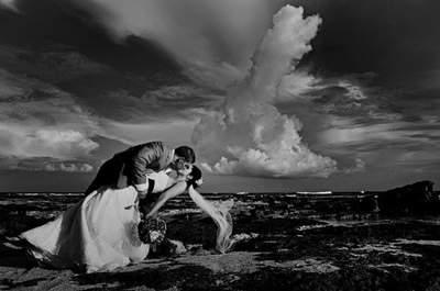 Des photos de mariage prises en pleine nature et au vert
