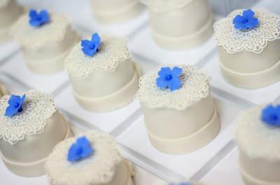 Cupcakes para el postre del bufet de boda: deliciosos y originales