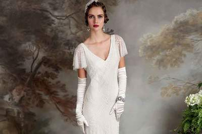 Something old, something new. Eliza Jane Howells romantically vintage 1920's wedding dress collections