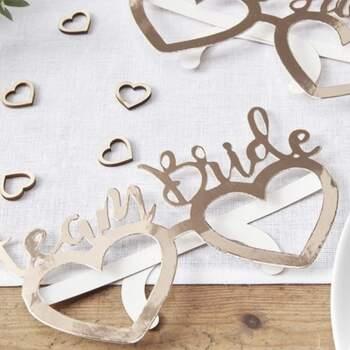 Lunettes de mariée et de marié 8 pièces - The Wedding Shop !