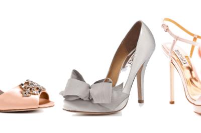 Los diseñadores de vestidos de novias también diseñan zapatos. ¿Te los vas a perder?