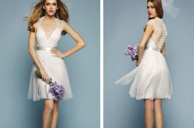 3 looks de noiva com um vestido curto