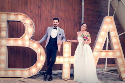 Una decoración rustic chic: la preciosa boda en la hípica de Álex y Bel