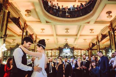 Casamento clássico com toques vintage de Mariana e Fernando: uma bonequinha de luxo na Confeitaria Colombo!