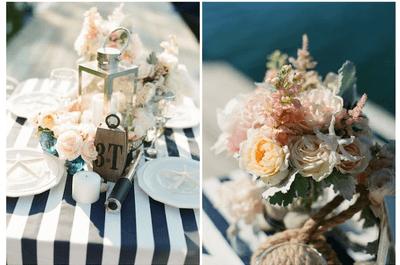 Una decoración de boda perfecta con rayas. ¿Cómo lograrla?