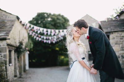 Real Wedding: A Festival of Color in the Quaint, English Countryside