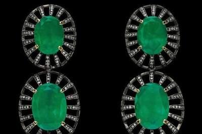 Brinco de esmeralda: opção para noiva e convidadas