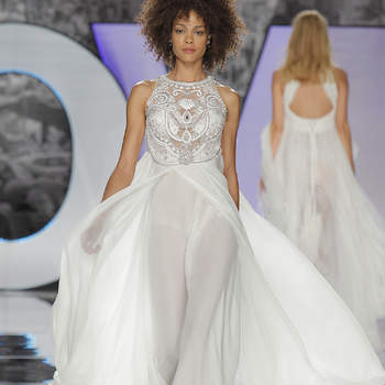 YolanCris. Credits- Barcelona Bridal Fashion Week