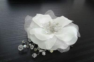 Flores como tocados de novia