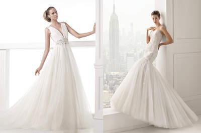 Ein Traum in Tüll: Der Trend-Stoff der Brautmode Kollektionen 2015