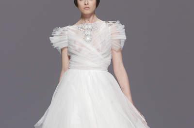 50 Vestidos de novia con mangas cortas perfectos: Los estilos ganadores para las más coquetas