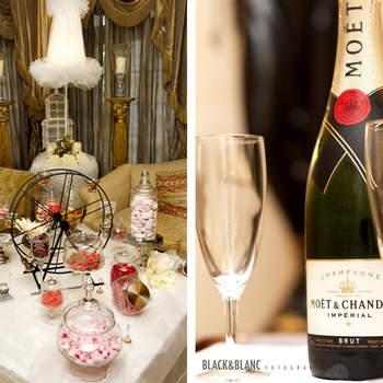 Desde las mesas de dulces hasta la selección de vinos y cavas, todo estaba pensado en este evento exclusivo. Foto: Belle Day. http://belleday.com/es/