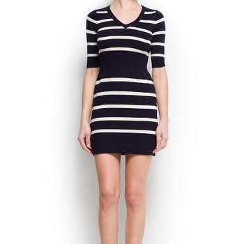 Minidress black&white a righe orizzontali