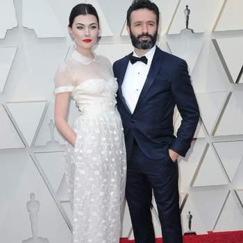 Marta Nieto vestida de DelPozo y Rodrigo Sorogoyen / Cordon Press