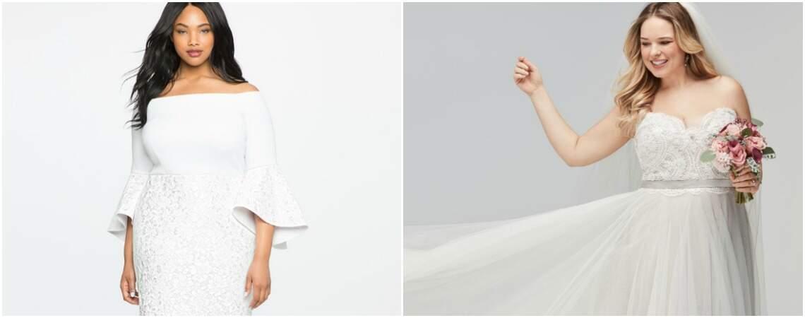 Robes de mariée pour femmes rondes : mettez en valeur vos courbes avec style