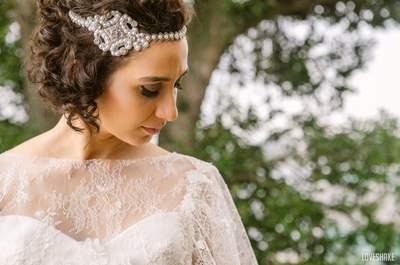 Lindos vestidos e acessórios estilo anos 20 para seu casamento: apaixone-se por todos e por cada um deles!