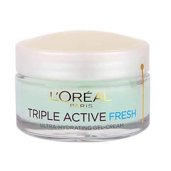 """Gel crema para pieles normales y mixtas Triple Active Fresh de <a href=""""http://www.loreal-paris.es/_es/_es/home/index.aspx"""" target=""""_blank"""">L'oréal Paris</a>"""