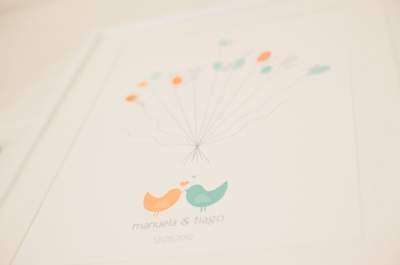 Livro de visitas original para casamento