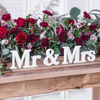 Lettere mr e mrs- Compra en The Wedding Shop