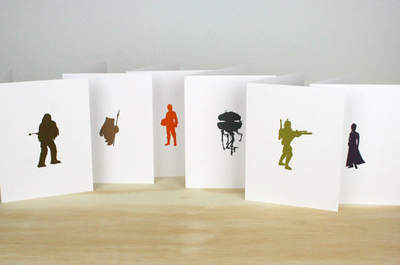foto 1 http://www.etsy.com/listing/112793278/star-wars-letterpress-cards-set-of-6 by greenbirdpress
