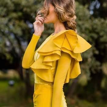 Bridalada con vestido de Fernando Claro Costura. Credits: Natalia Ngestudio