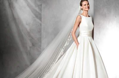 Vestidos de novia con bolsas 2017: La tendencia favorita ¡sin duda!