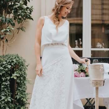 Robe de mariée vintage modèle Rachel - Crédit photo: Elsa Gary