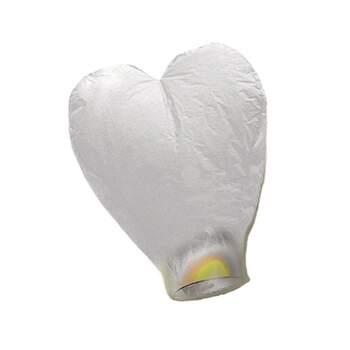 Lanterne Volante Cœur Blanc - The Wedding Shop