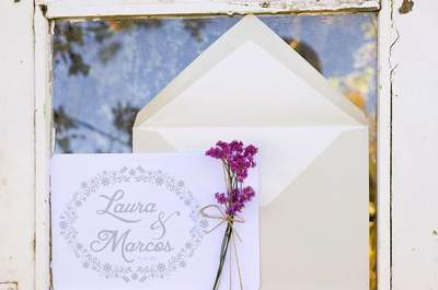 30 tipos de invitaciones de boda 2016. ¡Toma nota e invita con estilo!