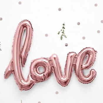 Globo Love Rosa Oro- Compra en The Wedding Shop