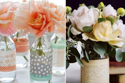 Recicle já: 4 maneiras de usar potes e garrafas de vidro na decor de casamentos em 2015